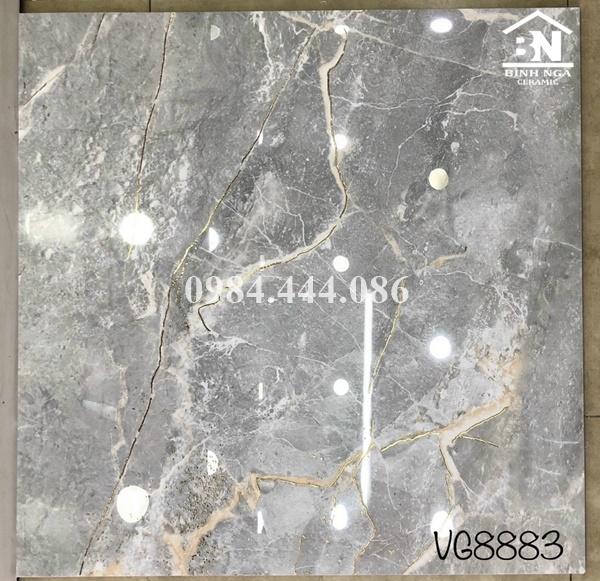 Gạch lát nền khắc  kim vân đá xám